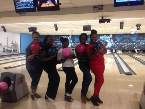 Bowling with my coworkers.