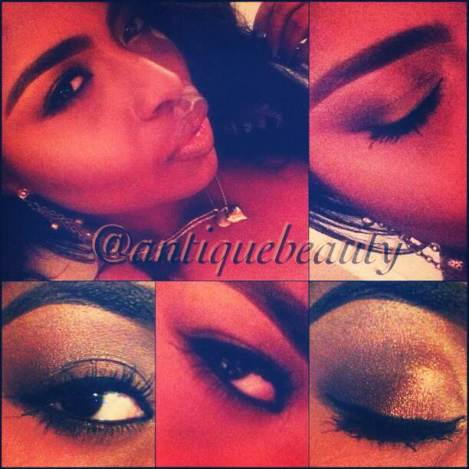 A natural smokey eye using warm earth tone colors.